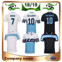 aed6d790d 18 19 Lazio Soccer Jersey 2019 Lazio home  6 LUCAS  7 KISHNA Soccer Shirt 8  BASTA 10 F.ANDERSON IMMOBILE LULIC Custom Football Shirt