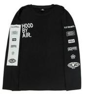 cagoule pour hommes achat en gros de-Nouveau 2017 Hood des hommes par Air T-shirts à manches longues Man Hip Hop t-shirts Été Trill T-shirts imprimés Vêtements des hommes Camisetas