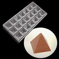 Wholesale plastic polycarbonate resale online - Pyramid shape confectionery Baking Pastry Tools polycarbonate chocolate mold Cake Molds