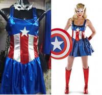 weibliches wunder cosplay großhandel-New Fancy Marvel Frau Kostüm Sexy Cosplay Halloween Weibliche Erwachsene Kostüm Maske