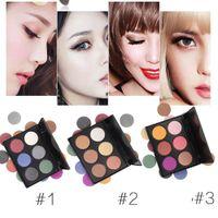 Wholesale shadow box sale resale online - 6 color eye shadow disc miyagi pearl matte eye shadow color makeup box portable manufacturers direct sale