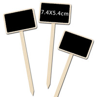Wholesale garden plant labels for sale - Group buy Vintage Florist Chalkboard Bucket Price Tags Rustic Garden Plant Label Wooden Marker Tags Stand Blackboard Wedding Table Numbers Multi Use