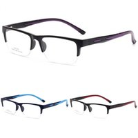 3d99f0e0673 Half Frames Myopia Glasses Men And Women Square Eyeglasses Non Slip  Silicone Optics Spectacle Colourful Hot Sale 15cr C