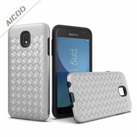 Wholesale pc case texture for sale - Business Hybrid in Weave Texture Phone Case PC TPU Full Protection Cover For iPhone X XS Max XR Plus Samsung Note LG Stylo OPP