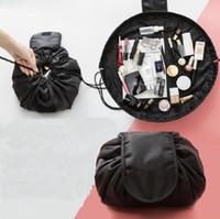 çanta sözleşmesi toptan satış-Moda tembel makyaj çantası kitle kozmetik çantası taşınabilir beraberlik dize artifact seyahat sözleşmeli kozmetik almak