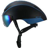 Wholesale cycling race helmets - New Aero TT Road Bicycle Helmet Goggles Racing Cycling Bike Sports Safety Helmet in-mold Bike Cycling Goggle Helmet Protective Gear