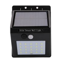 Wholesale bulb motion sensor - Solar Power LED Solar light Outdoor Wall LED Solar lamp With PIR Motion Sensor Night Security Bulb Street Yard Path Garden lamp
