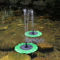 ingrosso pompa acqua fontana sommergibile-Pompa ad acqua solare Floating Waterpomp Kit pannello Fontana Pool Pump Kit Lotus Leaf Galleggiante Pond Watering Sommergibile Pompa acqua da giardino OOA5045