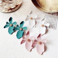 ohrring modelle koreanisch großhandel-Neue Boho Ohrstecker Korean Urlaub Persönlichkeit übertrieben dreidimensionale Blütenblätter Böhmen Ohrringe Schmuck Modell-Nr. NE887