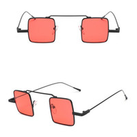 84ba206105f 2018 Fashion Small Sunglasses Square Frame Women Sunglasses Colorful Lenses  Cool Punk Sun Glasses For Men 7 Colors Cheap Wholesale Eyewear