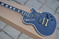 guitarra 1958 al por mayor-OEM Factory Quality 1958-New! LP personalizado angustiado, color negro, P-90 recolección de caoba cuello y cuerpo guitarra eléctrica envío gratis