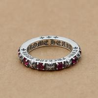 plata esterlina de la vendimia al por mayor-A estrenar 925 anillos de diseñador de estilo europeo europeo de joyería de moda de estilo europeo con piedras bonito regalo envío gratis