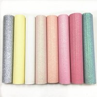 ingrosso vinile per artigianato-Pastel Fine Flash Vinile Tessuto Glitter Pelle Materiale Artigianato Decorazione dell'arco Decorazione della casa, Pianura Multicolore Opzionale