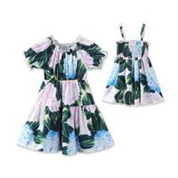 ropa de estilo antiguo al por mayor-Vestidos de niñas 2 -7y Old Baby Girls Summer Clothing Vestidos de niña de estilo bohemio 2 Diseños de princesa Dress Kids Clothing LA672