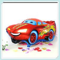 wedding car decorations achat en gros de-5 PCS En Gros Bande Dessinée De Voiture Feuille Ballon Hélium Ballons De Voiture Ballons De Mariage Fête D'anniversaire Décoration Enfants Jouet