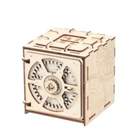 Wholesale building block cases for sale - Group buy Blocks Puzzle Wood Storage Case Saving Money Box Code Design Mechanical Drive DIY Craft Assembly Kids Educational Toys Building Blocks