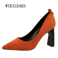 Wholesale Tenis Dresses - women shoes high heel red shoes woman italian wedding dress ladies shoes extreme high heels zapatos mujer tacon tenis feminino
