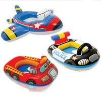 Wholesale baby swim car for sale - Group buy Airplane Car Baby Swimming Float Seat Boat Trainer Infant Inflatable Toddler Newborn Swim Ring Circle Aid Swim Pool Accessories