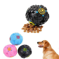 Wholesale toy trumpet wholesale - Trumpet Sound Leakage Food Ball Dog Toy Pet Shrieking Ball Puzzle Resistant Teeth Bite Chew Tool OOA4202