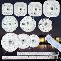 Wholesale circular panel led 12w - Round PCB LED Board Light W W W Led Lamp Panel Ceiling Lamp SMD2835 LED Board Panel Circular Tube Lights
