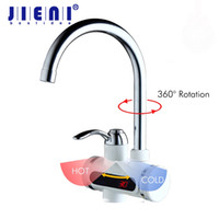 Wholesale electric hot water heater shower - RU Hot Faucet 3sec Instant Tankless Electric Water Heater Faucet Kitchen Instant Hot Water Tap Shower and Cold