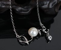 Wholesale love pearl sterling silver - zircon sterling silver necklace setting, pedant setting without pearl,heart and arrow zircon,jewelry DIY,gift DIY, gift for love