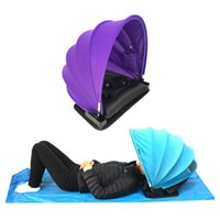 Wholesale Blue Shelter - Pop Up Face Shade Portable Adjustable Personal Beach Sun Shade Canopy Outdoor Mini Beach Tent Shelter Sunshade Umbrella Canopy