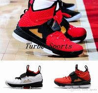 Wholesale diamond gold shoes - 2018 New 15 Red Diamond Turf 15s Mens Basketball Shoes Black White Red Alternate Edition Sneakers Size US 7-12