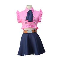 anime girl kostümleri toptan satış-Anime Yedi Ölümcül Günah Kız Elizabeth Liones Cosplay Kostümleri Sevimli Kadınlar / Kızlar Üniformaları Giyim hizmetçi kıyafeti Cadılar Bayramı kostüm