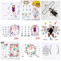 Wholesale easter photography backgrounds resale online - 100cm Number Photography Blankets Newborn Baby Flower Wrap Background Props Photo Prop Backdrops Easter Infant Soft Blanket AAA982