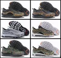 best service e020c eab5b 2018 Nouveau 97 Pays Camo Japan Italie UK Army Vert Chaussures De Course  Hommes 97s Camouflage Ultra Bullet 3 M Premium Zoom Baskets Baskets 40-46