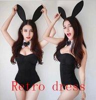 garota uniforme erótica venda por atacado-3 cores sexy bunny trajes mulheres role-playing coelho menina sexy uniforme 2016 nova sexy leopardo lingerie erótica leopardo impressão D18110701