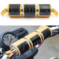 Wholesale Motorcycle Stereo Mp3 - MT487 Motorcycle Speaker Bluetooth V2.1+ EDR Audio Player Water-resistant Stereo Speaker FM Radio AUX USB TF MP3 Player Car Stereo Speakers