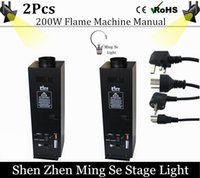 Wholesale Fire Projector - 2pcs lots 200W Four Corner stage flame machine Spray Fire Machine Dmx Flame Projectors Stage Equipment DMX Fire