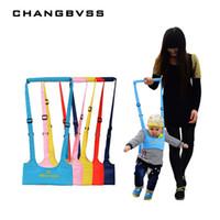 ingrosso guinzaglio giallo-Cintura da passeggio per bambini Cinghietti per cinghie regolabili Baby Learning Walking Assistant Fascia per bebè per bambini Protezione per imbracature di sicurezza per bambini