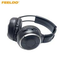 arabalar için müzik dvd'leri toptan satış-FEELDO Araba DVD Stereo 2 Çift Kanal Ses IR Kızılötesi Kablosuz Müzik Katlanabilir Kulaklık Kulaklık # 2447