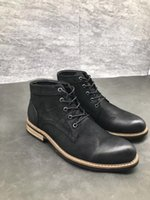 Wholesale ankle boots booties - Full genuine leather ankle boots lace up Men booties size 38-44 Hot sale Martin boots Stars love