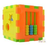 Wholesale Pictures Numbers - Multiple Shapes Lovely Can Plug Intelligence Box Picture Shape Cognition Building Block Toy Meet The Numbers 3 99kt W