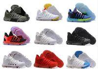 zapatos del kds del melocotón al por mayor-2018 Versión correcta Zapatillas de baloncesto KD 10 EP K Durant X kds 10s Rainbow Wolf Gris KD10 FMVP noche melocotón oreo terciopelo zapatillas 40-46