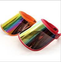 sunshades for cars Australia - fashion Cap visor Visors For Car Anti UV Light Summer Cycling Sunshade Caps PC Sun Hat Board To outdoor Ride Sun Visors wholesale