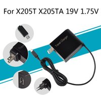 Wholesale power supply asus laptop - 19V 1.75A 33W AC Adapter Cable Plug Latpop Power Supply Travel Wall Charger for ASUS EeeBook X205T X205TA 11.6 Laptop Adaptor