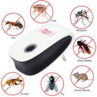 ingrosso killer elettronico di zanzara-Ultrasuoni Rifiuti Mosquito Killer elettronico Multi-Purpose Reject Rat Mouse repellente Anti Rodent Bug scarafaggio Control Killer con scatola