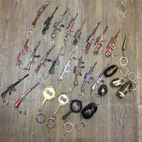 mosquetão de jóias venda por atacado-Playerunknown's Battlegrounds Modelo de Arma Chaveiro Carabiner Mini Gun Cosplay Chaveiro Chave Anéis de Moda Jóias Drop Shipping