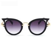 a5e3152ad frete grátis venda por atacado-Crianças óculos de sol Oco Cara Do Gato Do  Bebê