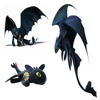"Wholesale toothless plush stuffed animal - Hot ! How to Train Your Dragon Toothless Plush Doll Stuffed Animals Toy For Child Best Gifts 10"" 25cm"
