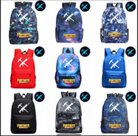 Wholesale school bags unisex - 12 Styles Fortnite Luminous game backpack Unisex Student School Book Bag Shoulder bag Travel Bag KKA466 10PCS