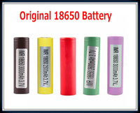 Wholesale genuine original battery for sale - Group buy Original Battery HG2 INR18650 Q MAH HE2 HE4 INR R mah Genuine Rechargeable Batteries Using Authentic In Stock