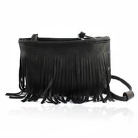 пакет сцепления оптовых-Hot Women Tassel Shoulder Bag Clutch Baguee Handbags Leather Hobos Package Crossbody Cross Body Messegere Bag Drop Shipping #Y