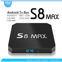 Wholesale android tv box youtube online - 2018 New S8 MAX GB GB Android TV Box G G WIFI Bluetooth IPTV Media Player Better MX10 H96X MAX