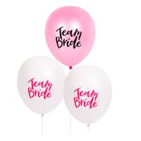 Wholesale diy latex toys resale online - White Pink Letter Balloon Team Bride Latex Balloons DIY Wedding Decorations Bachelorette Party Favor Supplies Kids Toys ws UU